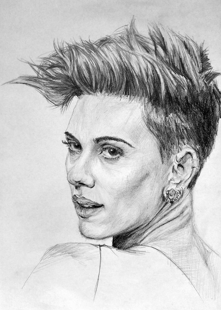 Portrait Of Scarlett Johansson By Linshyhchyang On Stars Portraits 1